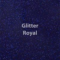 "Glitter HTV: 12"" x 5 Yard Roll - Royal"