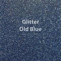 "Glitter HTV: 12"" x 5 Yard Roll - Old Blue"