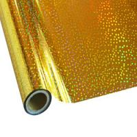 """25 Foot Roll of 12"""" StarCraft Electra Foil - Holographic Gold Stars"""
