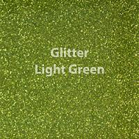 "Glitter HTV: 12"" x 5 Yard Roll - Light Green"