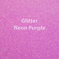 "Glitter HTV: 12"" x 5 Yard Roll - Neon Purple"