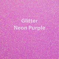"Glitter HTV: 12"" x 20"" - Neon Purple"