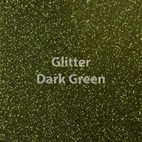 "Glitter HTV: 12"" x 5 Yard Roll - Dark Green"