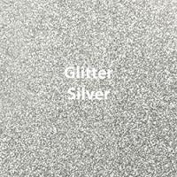 "Glitter HTV: 12"" x 20"" - Silver"