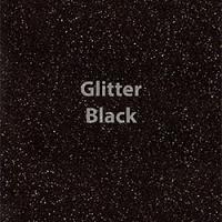 """Glitter HTV: 12"""" x 20"""" - Black"""