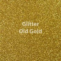 "Glitter HTV: 12"" x 5 Yard Roll - Old Gold"