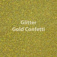 "Glitter HTV: 12"" x 5 Yard Roll - Gold Confetti"