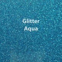 """Glitter HTV: 12"""" x 20"""" - Aqua"""
