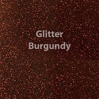"Glitter HTV: 12"" x 5 Yard Roll - Burgundy"
