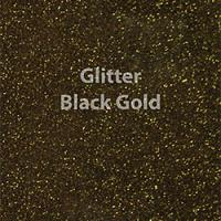 "Glitter HTV: 12"" x 5 Yard Roll - Black Gold"