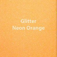 "Glitter HTV: 12"" x 5 Yard Roll - Neon Orange"