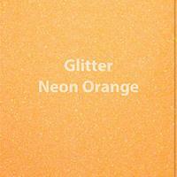 "Glitter HTV: 12"" x 20"" - Neon Orange"