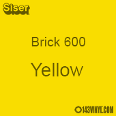 "12"" x 20"" Sheet Siser Brick 600 HTV - Yellow"